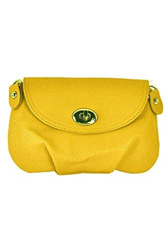 SODIAL(R) Borsa a tracolla della borsa della borsa della borsa del messaggero delle donne borsa-Giallo