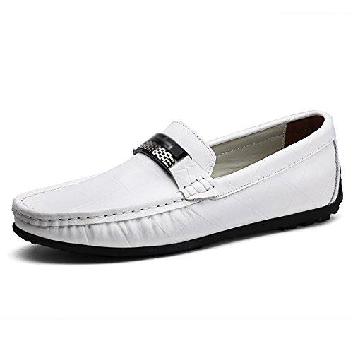 Hombre Mocasines de Zapatos Slip Cuero Esthesis Mocasines Genuino Blanco On ZqHxAdnnFw