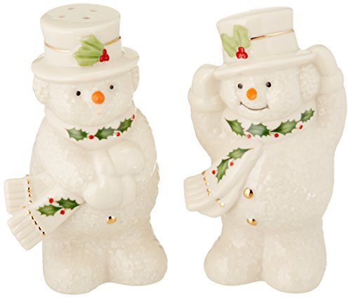 Lenox Happy Holly Days Snowman Salt & Pepper Shaker Set, ()