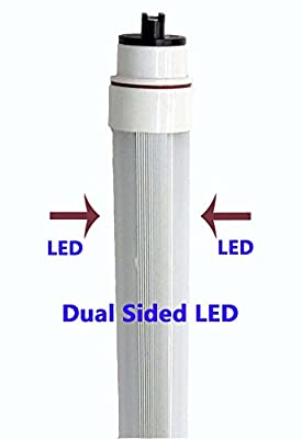 NYLL - RDC 3 feet/ 36 inch Plug & Play LED Tube - Daylight T12/HO Waterproof Dual-Sided LED directly relamp and replace the 45 watt 3ft Fluorescent Bulb F36T12/HO (without rewiring or modification)