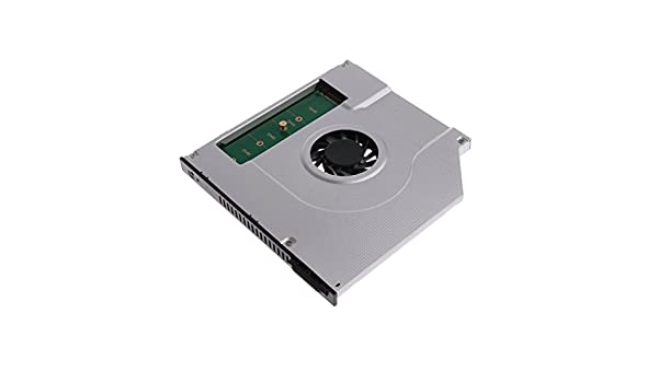 SODIAL New Laptop Internal Cooling Fan Inner CPU Cooler Radiator 2nd M2 M.2 NGFF SSD Caddy Solid State Hard Disk Enclosure Adapter 9.5mm SATA CD DVD Optical Drive Bay Replacement