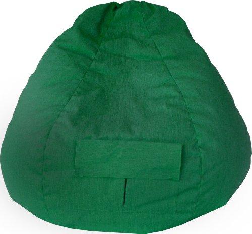 Gold Medal Bean Bags 31008484919 Small Denim Bean Bag with Pocket for Children, Green