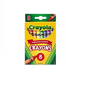 amazoncom crayola 523008 classic color crayons peggable retail pack peggable retail pack 8 colors toys games - Crayola Crayons Pictures