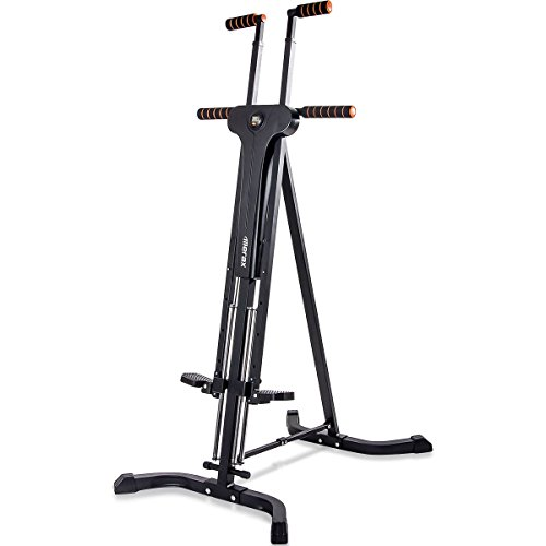 Merax Vertical Climber Fitness Climbing Cardio Machine Full Total Body Workout Fitness Folding Climber 2.0 (Black) For Sale