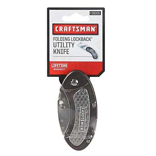 Craftsman Folding Lock Back Utility Knife Grey (black)