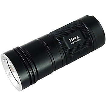 ThruNite TN4A CW 1150 Lumen Single CREE XP-L V6 LED Flashlight Powered by 4 AA Batteries, Cool White