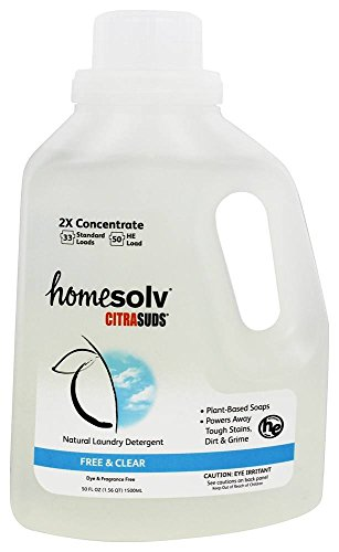 Citrasolv/Homesolv Suds 2x Free and Clear Laundry Detergent Liquid, 50 Fluid Ounce -  Citra Solv LLC, SUDFC506