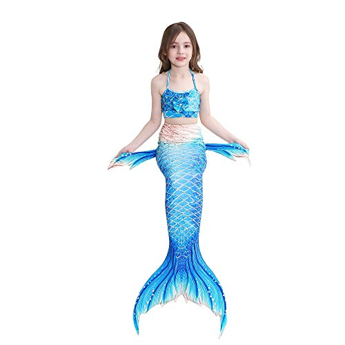 scintillante sirena per con da di SAIANKE coda bagno monopinna Dh12 nuotare qPwExtg