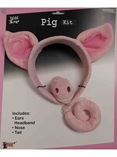 Forum Novelties Women's Pig Costume Accessory Kit, Pink, One Size -