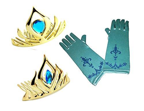 Frozen Elsa Coronation Dress (Elsa Coronation Tiara Crown and Gloves Play-Set (Set of 3))
