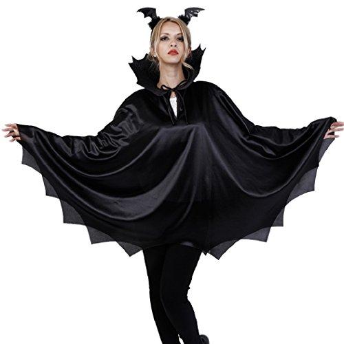 Old World Vampire Costume (Patymo Vampire Bat Unisex Costume -- One Piece Top & Headpiece - One Size)