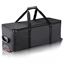 """Neewer 30""""x 12""""x 11""""/ 77 x 31 x 28 cm Photography Photo Studio Lighting Equipment Carry Bag Carrying Trolley Case Padded with Wheels and Retractable Handle for Light-stands, Tripods, Strobe Light, etc."""