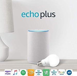 Echo Plus (2nd Gen) with Philips Hue Bulb - Alexa smart home starter kit - Sandstone