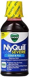 Vicks Flu Nighttime Relief Berry Flavor Liquid Twin Pack