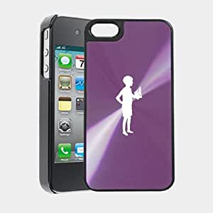 Old Style Children Playing With Paper Boat iPhone 5 Case iPhone 5S Case - MetalTouch CD Purple Aluminium Shell Protective Case