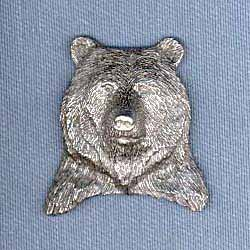 Grizzly Bear Pin (Pewter Grizzly Bear)
