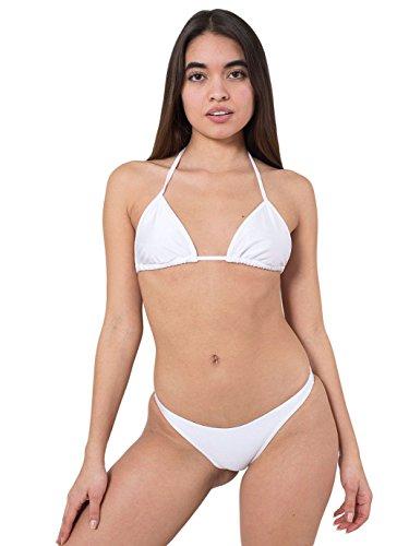American Apparel Women's Ruched Brazilian Bikini Bottom Size S White