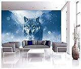 Wolf Snow Animal Photo Wallpaper Home Mural Kids Children Room Decoration 325x215cm