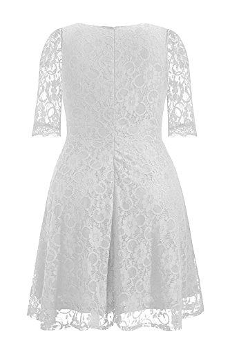 Pinup Fashion Women\'s Plus Size Lace Bridal Formal Wedding ...