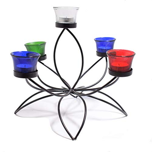 (Hashcart Traditional Tea Light Candle Holder/Metal Candle Light Holder Set/Designer Votive Candle Holder Stand/Table Decorative Candle Holders, Votive Tea Light for Home Living Room & Office)