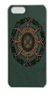 Celtic Tree PC Case Cover for iPhone 5 and iPhone 5s Transparent
