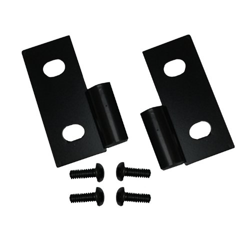 Rugged Ridge 11202.03 Black Lower Door Hinge - Pair (Windshield Wrangler Hinge Jeep)