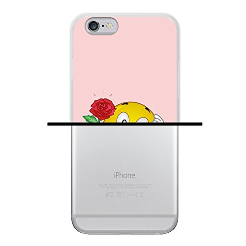 WoowCase Hülle Case für { iPhone 6 6S } Handy Cover Schutzhülle Emoticon Emoji Love Rose