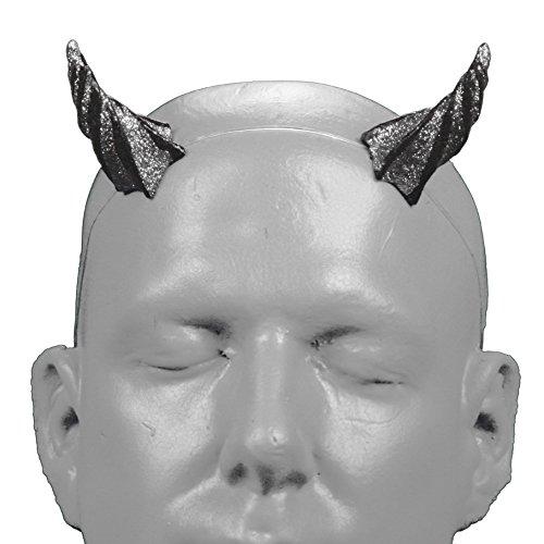 Demon Faun Costume (Gypsy Star V1 Silver Glitter Devil Horns w/ self locking invisible headband)