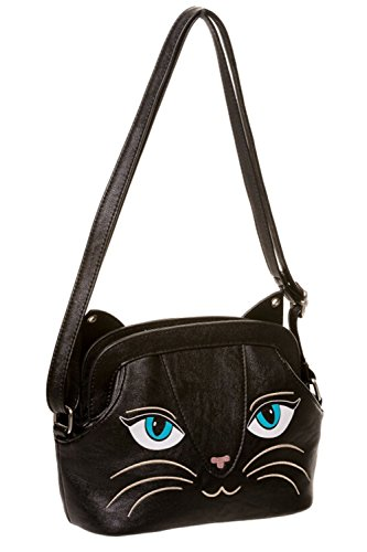 Purse Bag Face Apparel Kitty with Cat Bell Banned Small Handbag Ears Shoulder xFB8xw0q