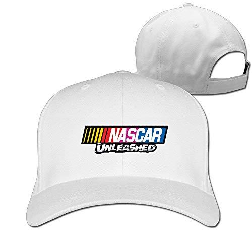 navely Men Women Unisex Adult Hats Nascar Unlesshed Logo Mesh Cap Trucker Hat Adjustable Baseball Cap for Boys Girls White