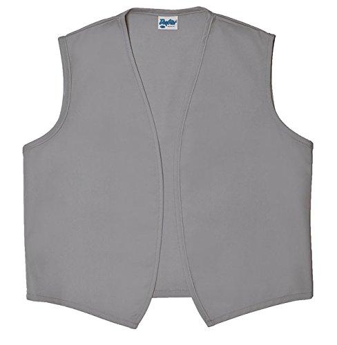 Style A740NP No Pocket Unisex Uniform Vest, (Medium, Silver Gray) by Daystar