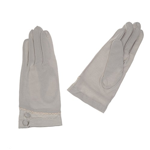 New Fashion Summer Women Uv Protection Sun Gloves Solid Color Cycling Driving Gloves (Light Grey)
