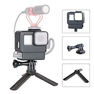 ULANZI V2 Vlogging Setup Kit for GoPro – Housing Case Frame with Mini Tripod Kit Vlogging Setup with Microphone Cold Shoe Mount for GoPro Hero 7/6/5 Action Camera Accessories 41Zv5tDCVLL