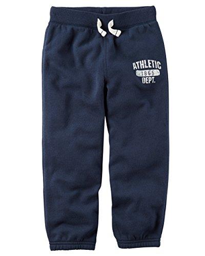 Carters Fleece Sweatpant (Carter's Boys' 2T-8 Brushed Fleece Joggers Navy 4T)