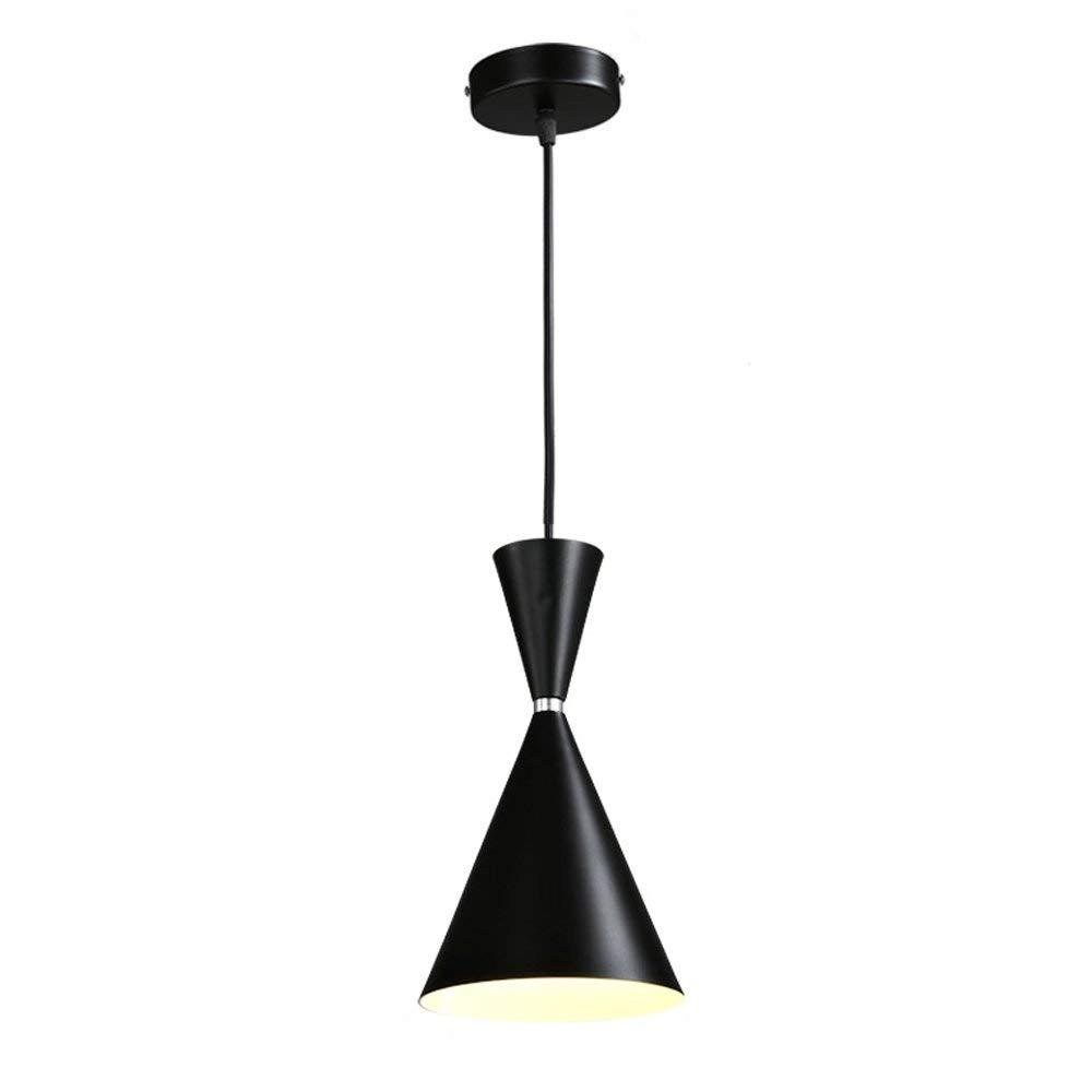 黑鐵吊燈E27吊燈100cm可調節吊燈現代創意吊燈吊燈客廳臥室餐廳書房咖啡廳L17 * H30cm   B07SQP9NSM