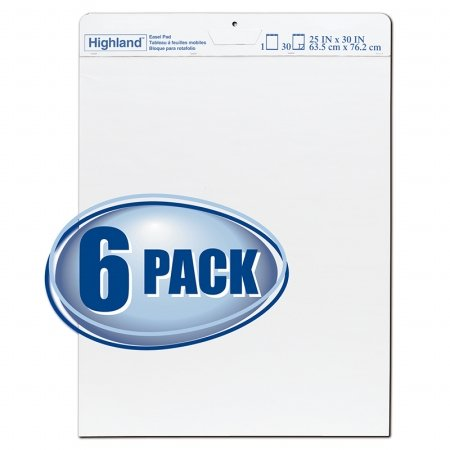 3M Company MMM5406PK Highland Easel Pad Pack Of 6 by HighlandTM