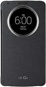 LG QuickCircle Window Folio Case for LG G3, Black