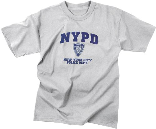 Nypd Physical Training T-shirt - Genuine NYPD T-Shirt NYPD Grey Physical Training T-Shirt LRG