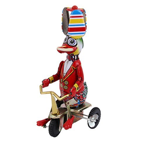 Wind Up Circus Duck on Tricycle Clockwork Kids Toy for sale  Delivered anywhere in USA