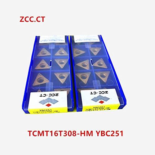 10P TCMT16T308-HM YBC251 Outil de tournage CNC Insert de carbure Indexable pour acier