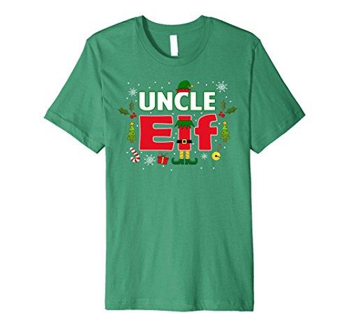 [Mens Uncle Elf Legs Funny Christmas Costume T-Shirt Santa Helper XL Kelly Green] (Jolly Green Santa's Helper Christmas Costumes)