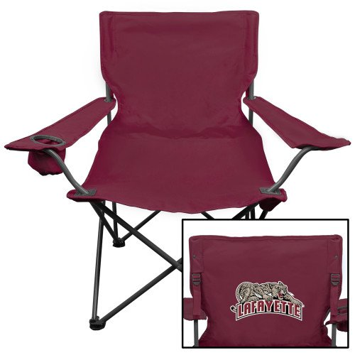 - CollegeFanGear Lafayette Deluxe Maroon Captains Chair 'Primary Mark'
