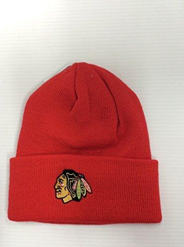 Equipment Hat Reebok Adult - Reebok Chicago Blackhawks Red Cuffed Beanie Adult Winter Hat