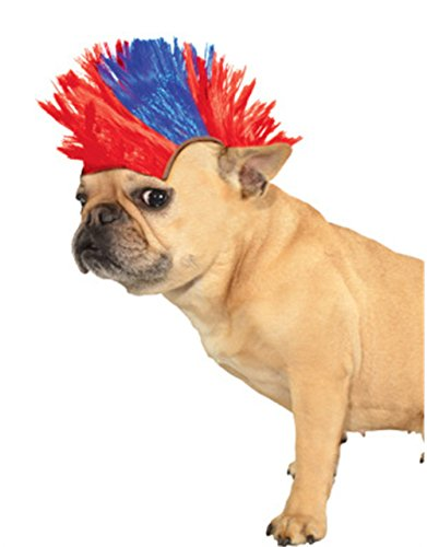 (Rubie's Wig for Pets, Small to Medium, Red and Blue)