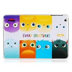 Fur Monsters Patrón de plástico de nuevo caso para el iPad Mini