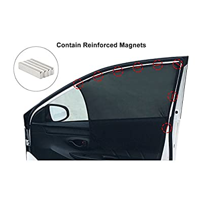 Bayan Front Side Window Sun Shade Car Window Shade Driver Side Window Sunshades-2 Pack: Automotive