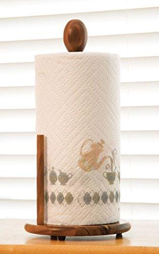 Lipper International 1138 Acacia Wood Standing Paper Towel Holder, 7-1/8'' x 14-1/4'' by Lipper International (Image #1)