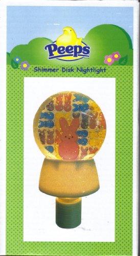 (Midwest Peeps Easter Bunny Shimmer Disk Night Light CBK)
