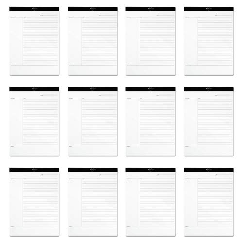 TOPS FocusNotes Note Taking System Legal Pad, 8-1/2 x 11-3/4 Inches, White, 50 Sheets (77103) (12) by TOPS