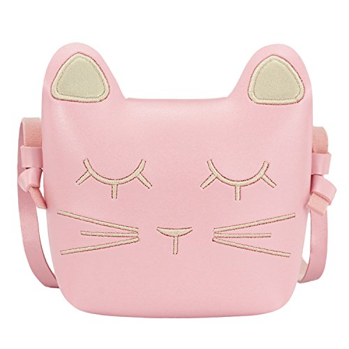 - CMK Trendy Kids Little Girls Cat Purse for Toddler Kids Girls Crossbody Purses (Light pink)